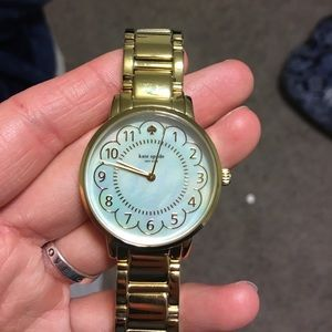 Kate Spade Gold Scalloped Gramercy Watch